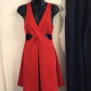 Express Red Dress W/Peepholes in Front Size 6